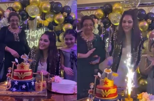 isha koppikar celebrated her birthday with family
