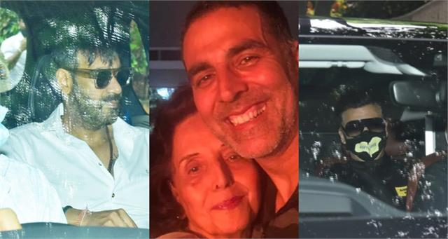 sidharth karan and others stars arrive akshay residence offer condolences
