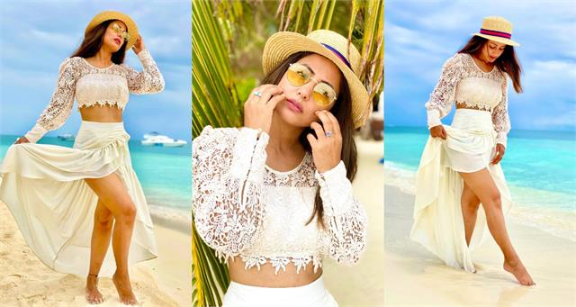 hina khan share stunning pictures from maldives trip
