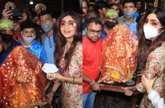 amid of raj kundra arrest shilpa bringing idol lord ganesha home
