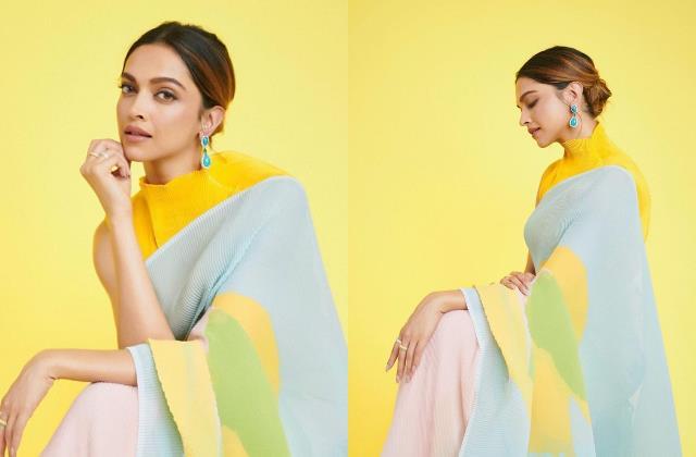 deepika padukone look classy in saree