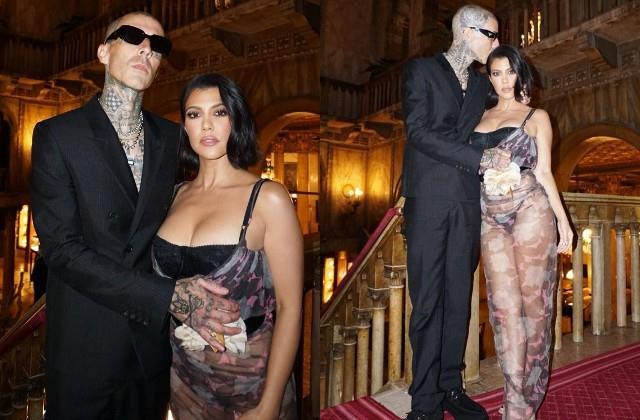 kourtney kardashian shares photos with boyfriend travis barker