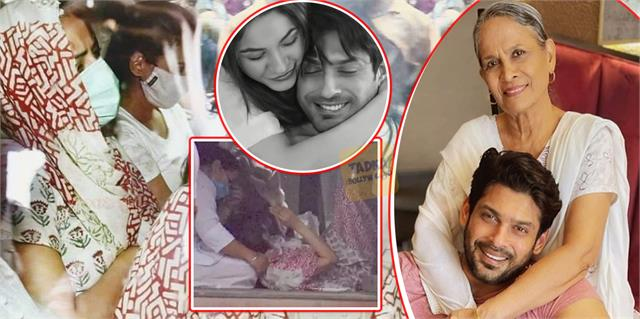shehnaaz eating enough after sidharth shukla demise actor mother console her