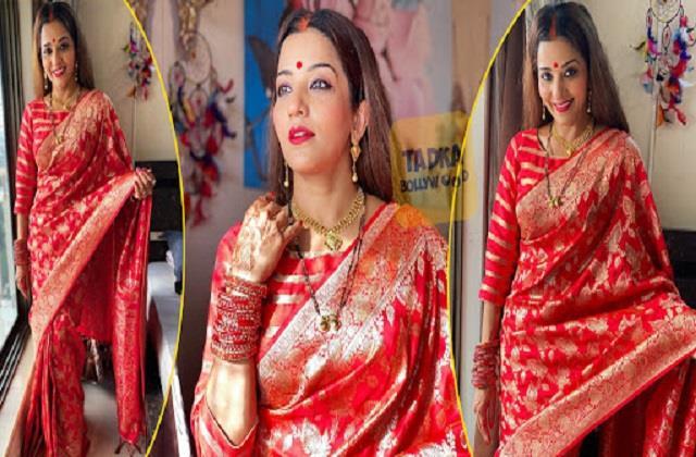 monalisa shares beautiful photos in saree look