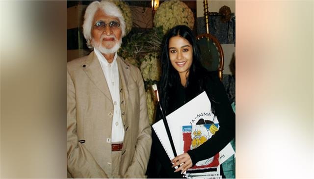 amrita rao remembers mf hussains special gift on his 106th birthday