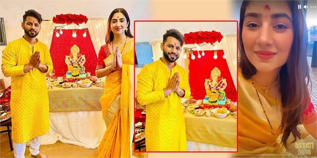 disha parmar celebrate first ganesh chaturthi with rahul vaidya