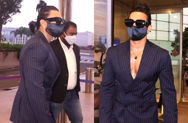 ranveer singh spotted at the airport