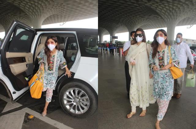 shilpa shetty look beautiful as she spotted at mumbai airport