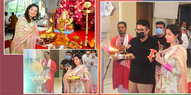 divya khosla kumar bhushan kumar celebrate ganesh chaturthi