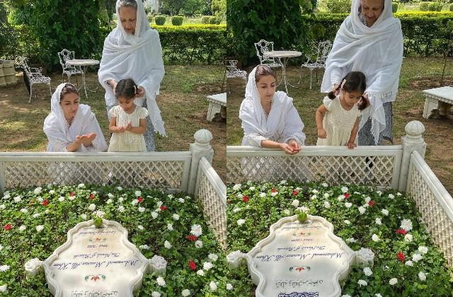 soha and inaya pays tribute to father mansoor ali khan on death anniversary