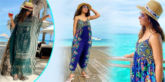 hina khan shares photos from maldives