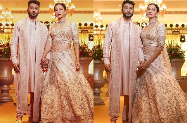 gauahar khan shares photos in wedding look with husband zaid darbar