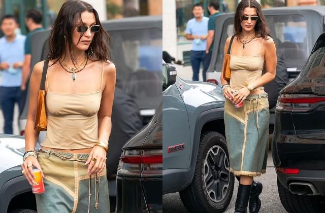 bella was spotted on the streets of tribeca