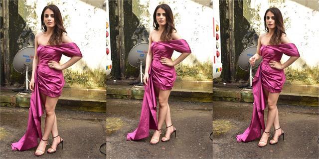 radhika madan look stunning in short dress