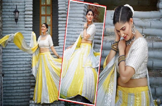 sapna choudhary shares beautiful photos in lehenga look