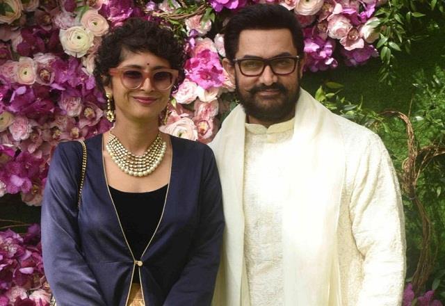 aamir khan arrives at friend wedding with ex wife kiran rao