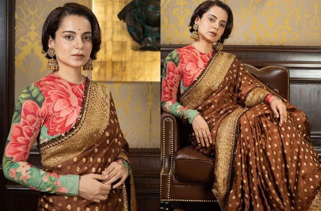 kangana ranaut shares her gorgeous photos before the release of thalaivi