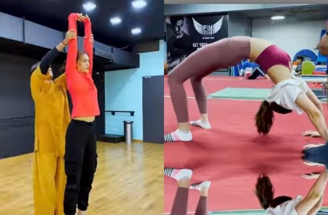 kriti sanon share the workout video on koo app