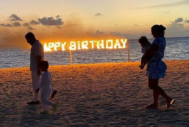 kareena kapoor celebrate birthday with saif ali khan and son maldives