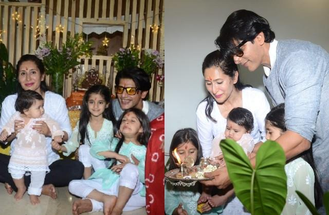 karanvir bohra celebrate ganesh chaturthi with family
