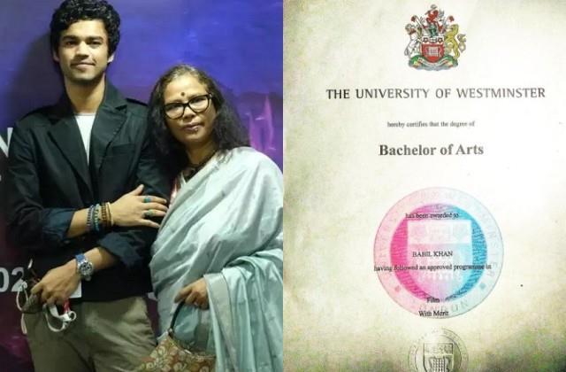 irrfan son babil khan gets graduation degree mother sutapa sikdar comments