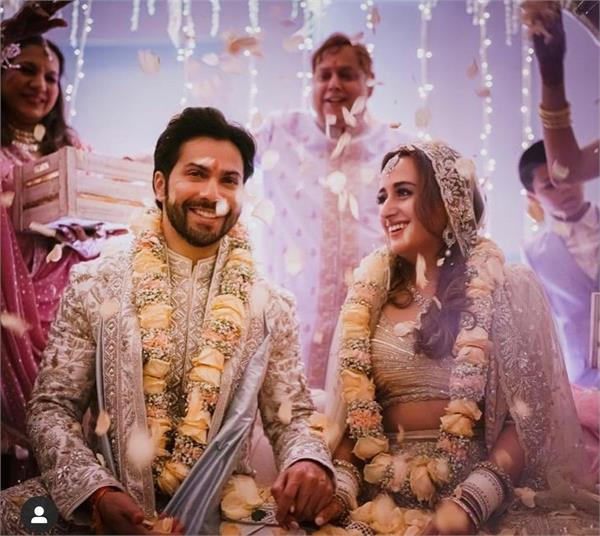 bollywood actor varun dhawan tied in marriage married amid tight security